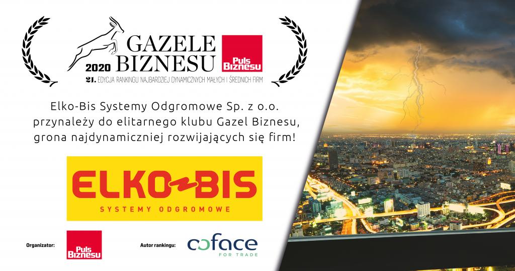 Gazela Biznesu 2020 dla Elko-Bis